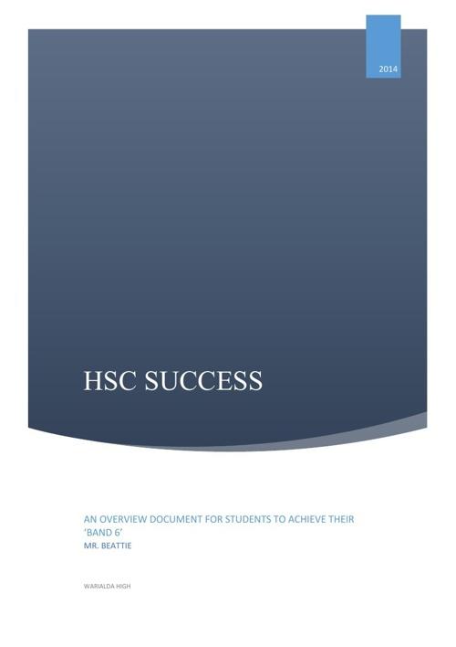 PDHPE HSC success