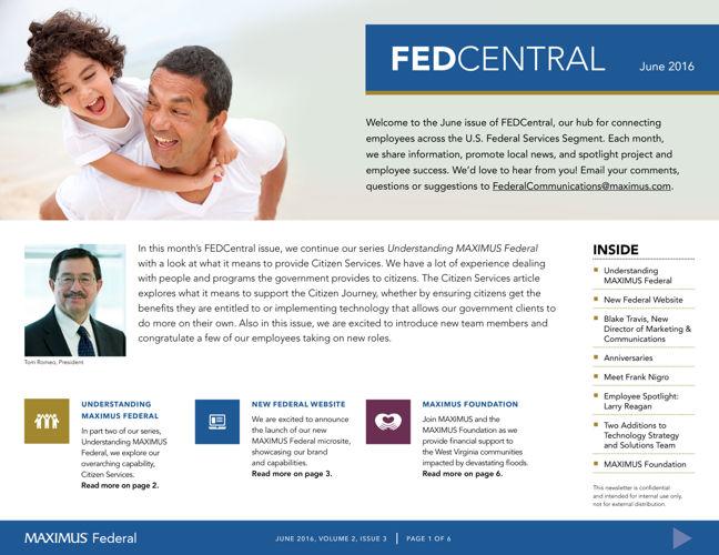 FEDCentral Newsletter, June 2016