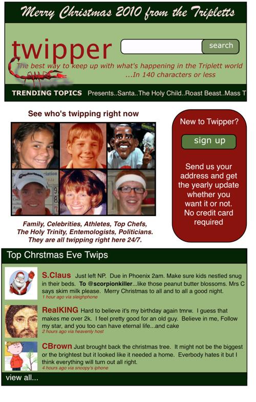 2010 Triplett Family Christmas Letter