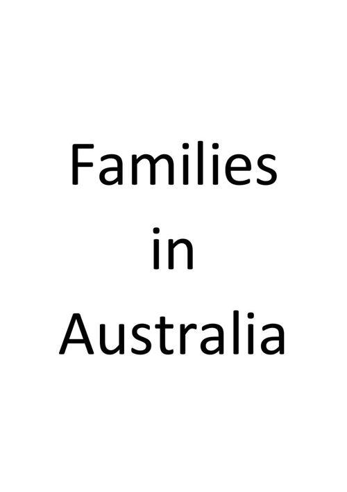 Families in australia