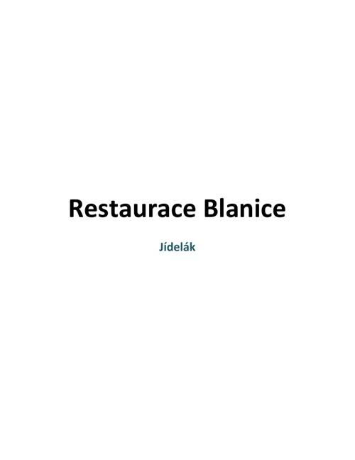 Restaurace Blanice Jídelák