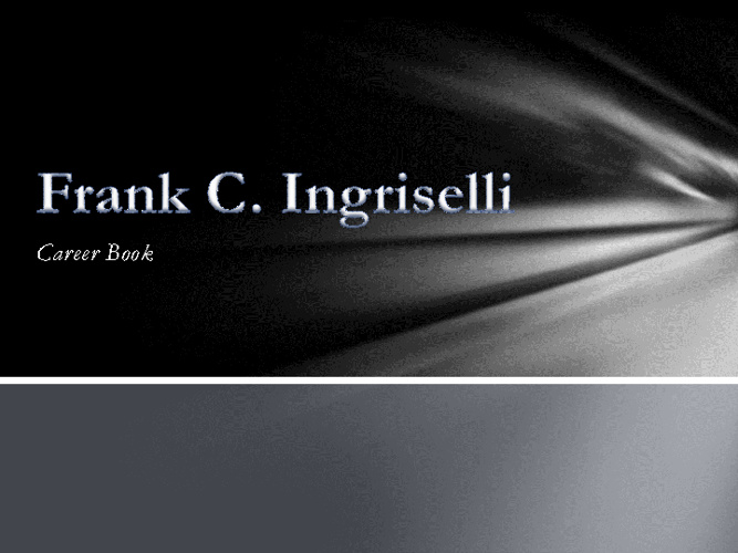Ingriselli Career Book