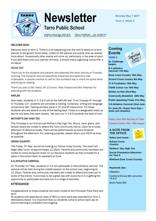 Newsletter May 1 2017.pub