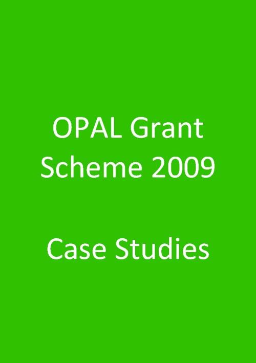 2009 Grant Scheme case studies