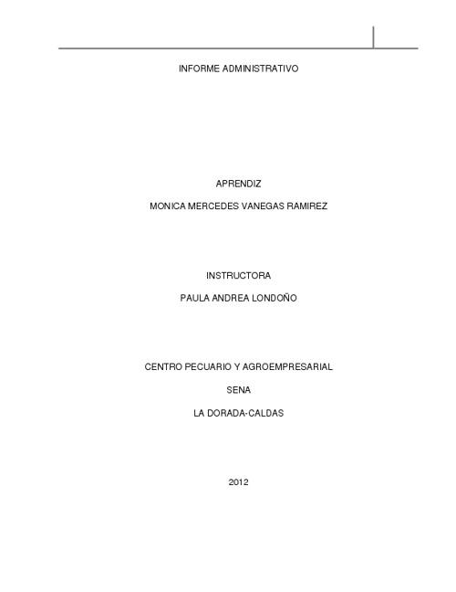 informe administrativo