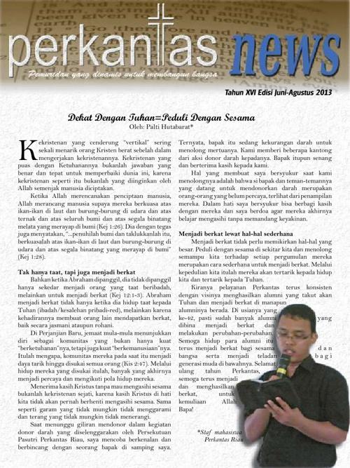 Perkantas News Juni-Agustus 2013