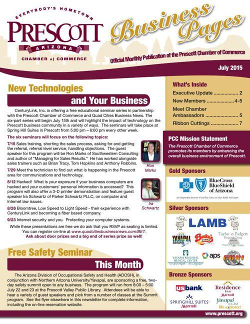 Prescott Chamber 7-15 Newsletter