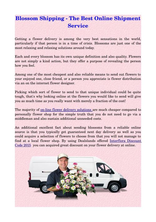 Blossom Shipping - The Best Online Shipment Service