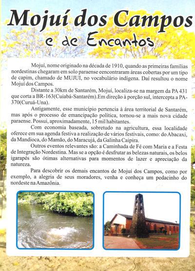 Folder turístico de Mojuí dos Campos (PA)