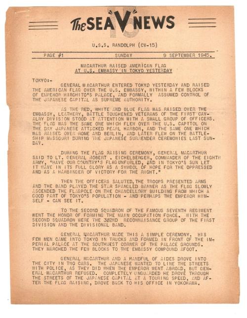 09 SEP 1945 SEA V NEWS