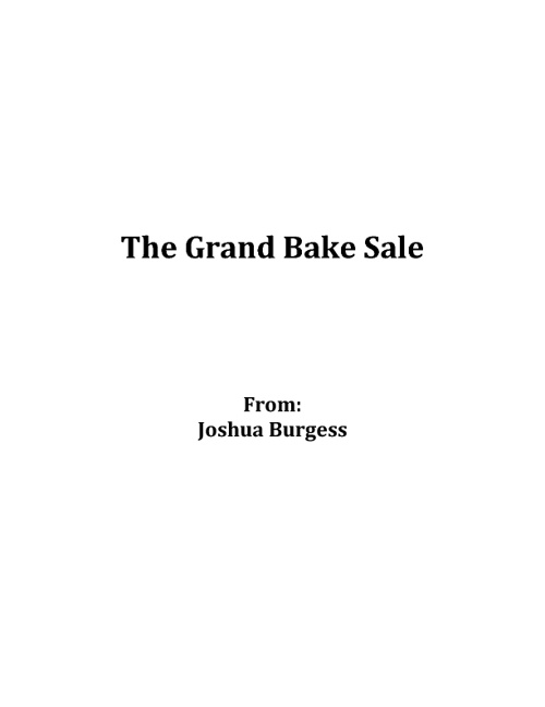 ***!!!The Grand Bake Sale!!!***