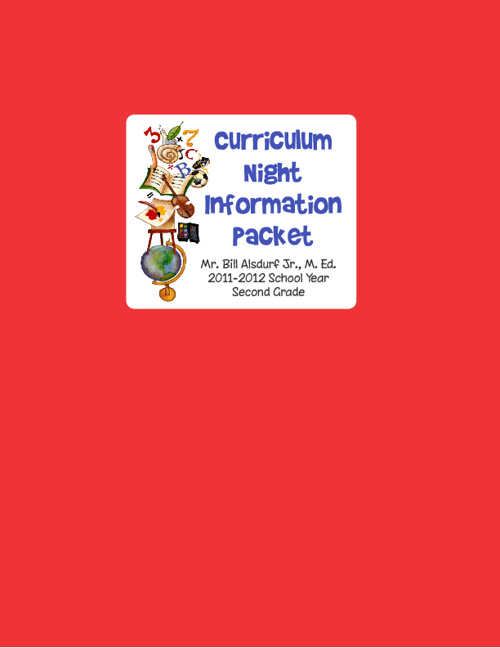 Curriculum Night Packet - Mr. Alsdurf