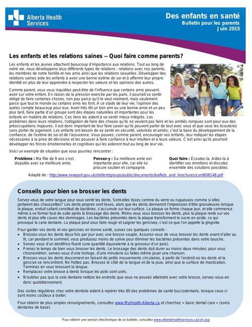 AHS Bulletin pour les parents juin 2015