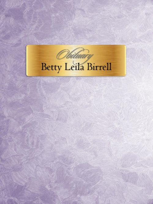 Obituary for Betty Leila Birrell