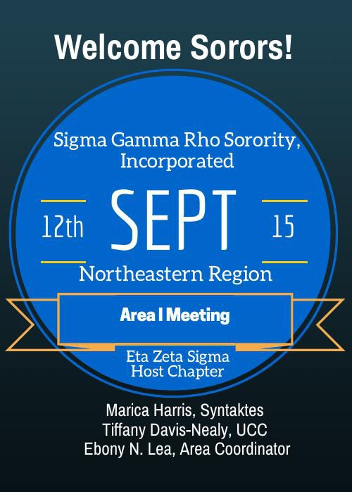 Sigma Gamma Rho Sorority, Inc. - Northeastern Region Area I Meet