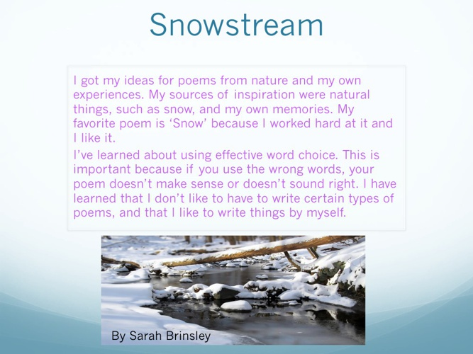 Snowstream: My Poetry Anthology