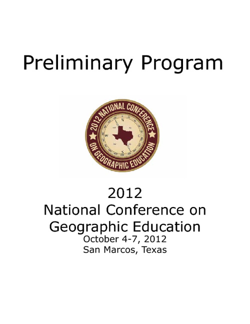 2012 Preliminary Conference Program