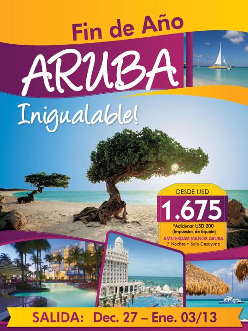 Aruba fin de año Inigualable
