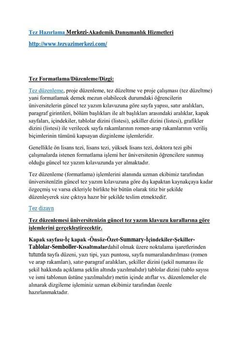 tez hazırlama merkezi | tezyazimerkezi.com|akademik Danışmanlık