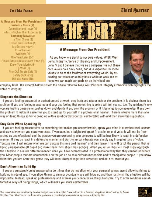 Third Quarter Newsletter