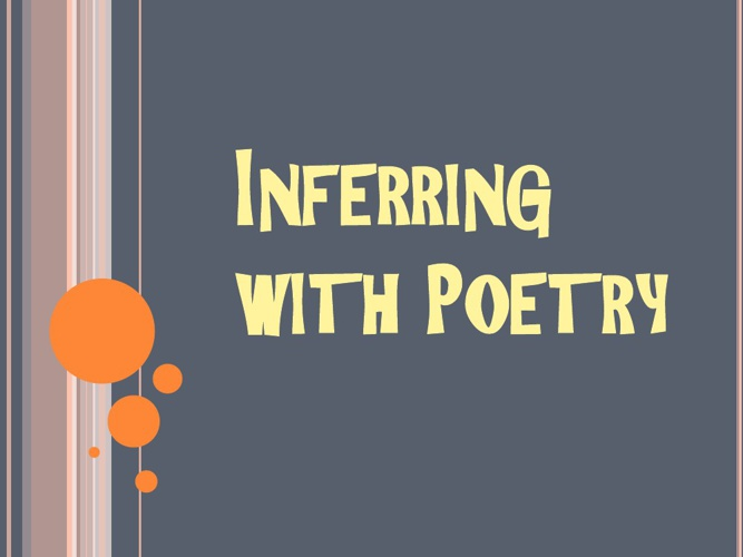 Inferring with poetry