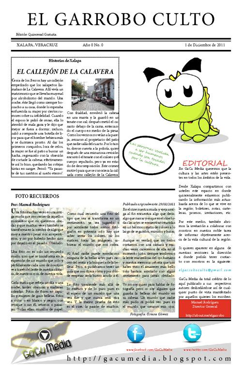 El Garrobo Culto No. 00 Date: 01/12/2011