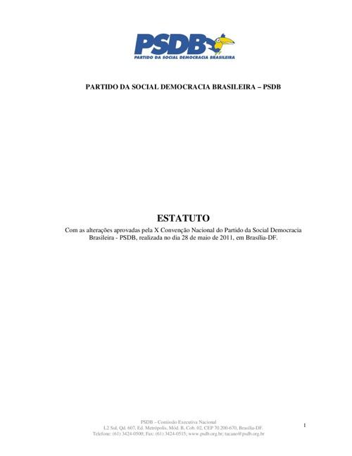 PSDB - Estatuto 7 Edição