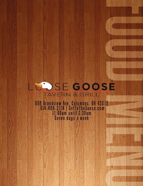 Loose Goose Menu 2.0