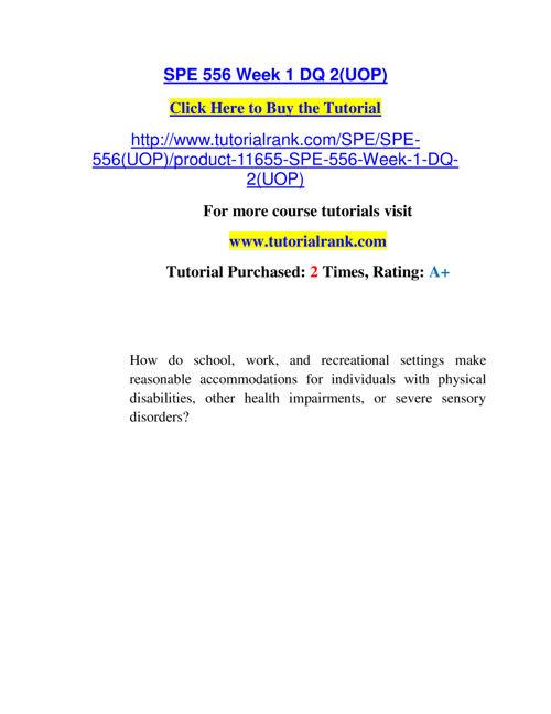 SPE 556 Slingshot Academy / Tutorialrank.Com