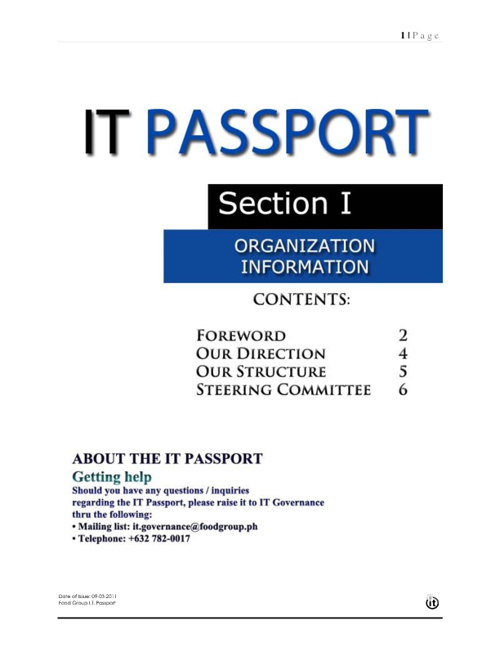 IT PASSPORT