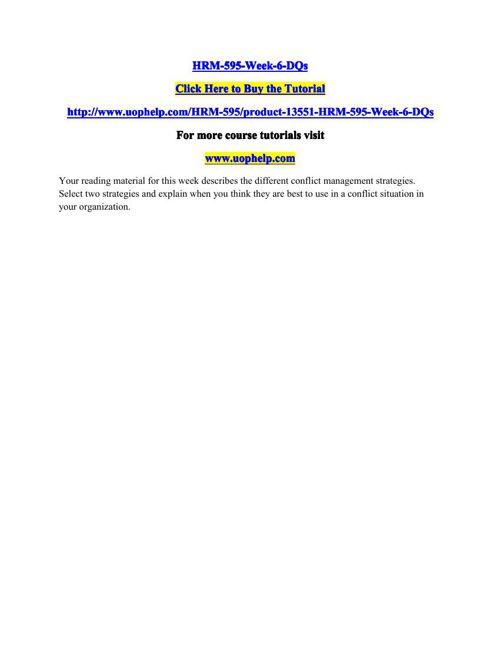 HRM-595-Week-6-DQs