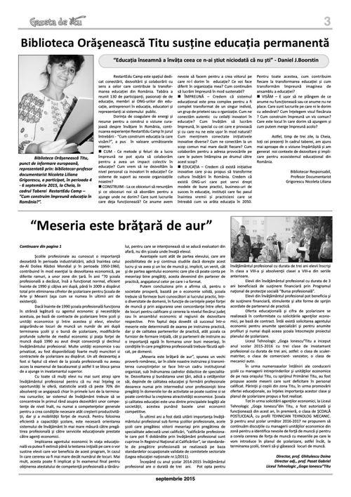 GAZETA DE TITU NR 15