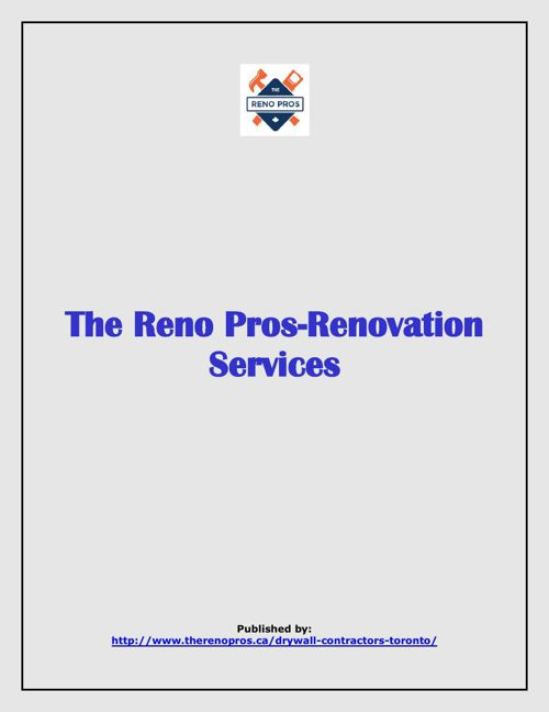 The Reno Pros-Renovation Services