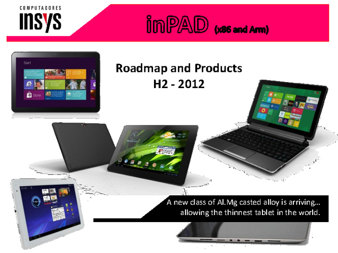 INSYS inPAD Tablets H2 2012