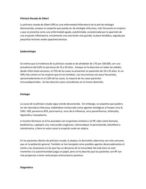 PITIRIASIS ROSADA DE GIBERT ARTICULO