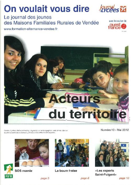On Voulait Vous Dire N°10 Mai 2012