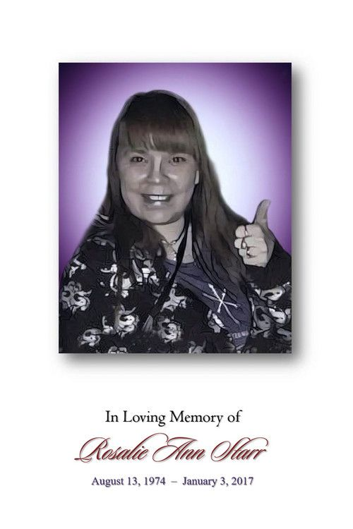 Funeral Service Program for Rosalie Ann Starr