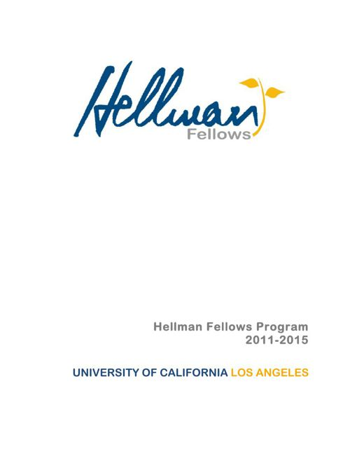 2015 UC Los Angeles awardees booklet