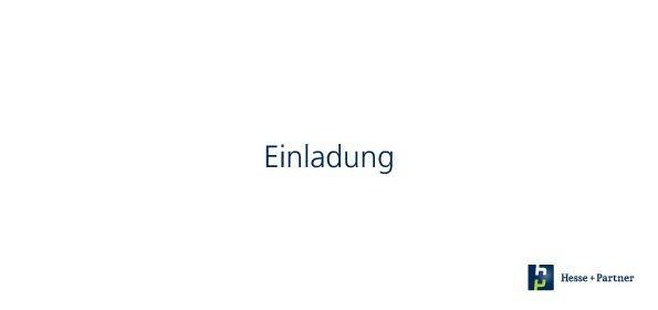 Einladung Deutsche Ärzte- und Apothekerbank