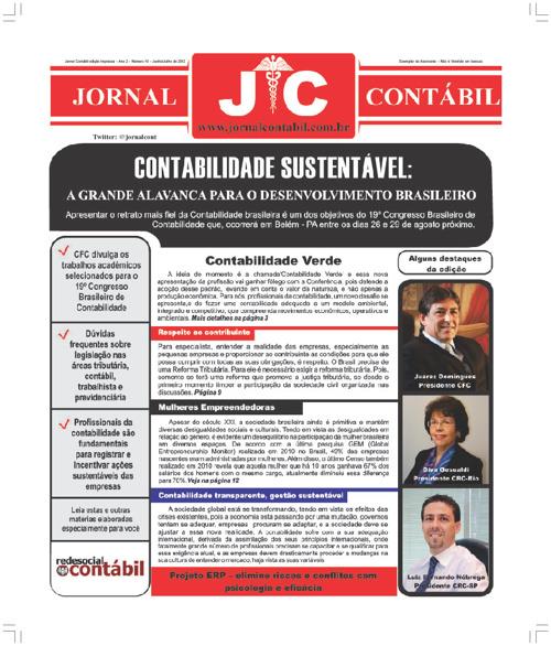 Jornal Contábil - Edição 10 - Junho de 2012