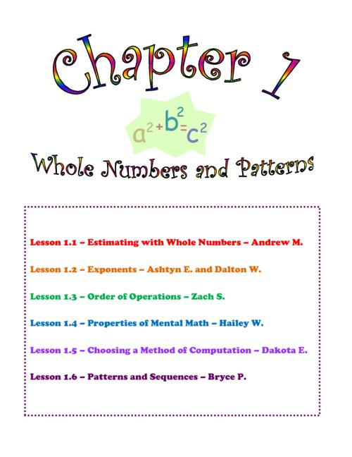 Mrs. Pederson's Block 5 Math Book