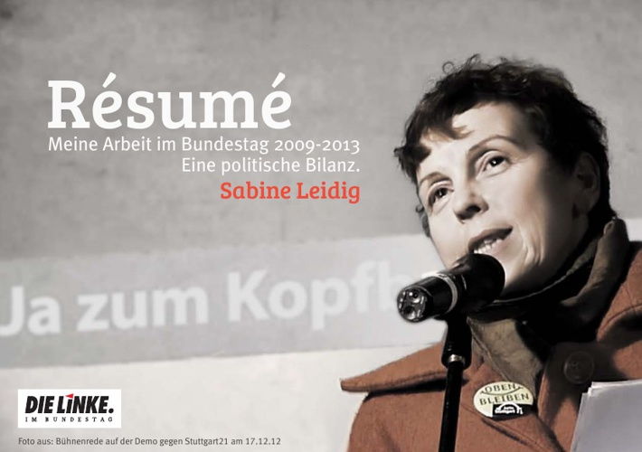 Resume - Eine politische Bilanz von Sabine Leidig