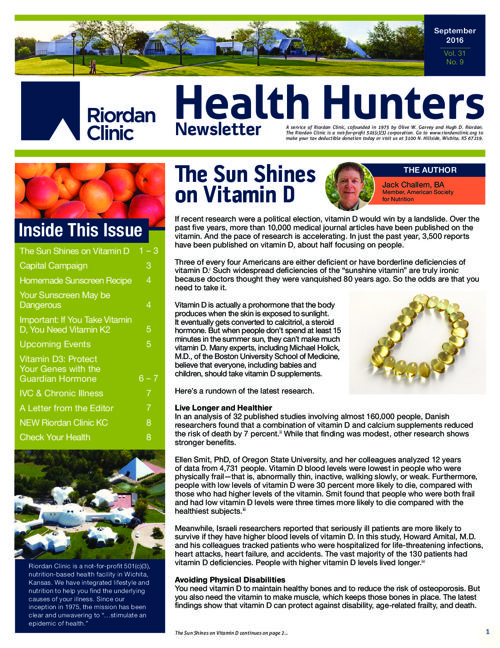 Health Hunters: September 2016