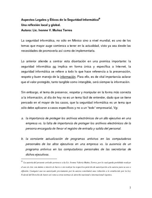 Aspectos éticos y legales