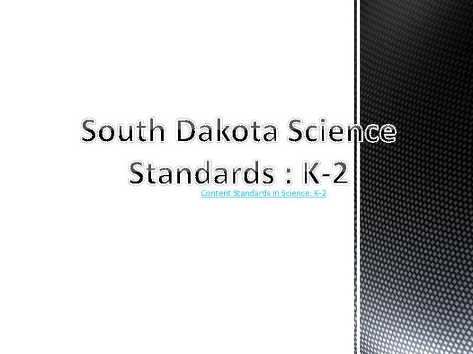 Kindergarten Science Standards