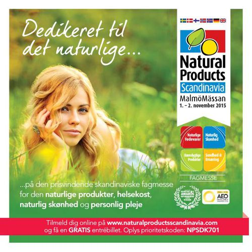 Natural Products Scandinavia Visitor Brochure - Danish