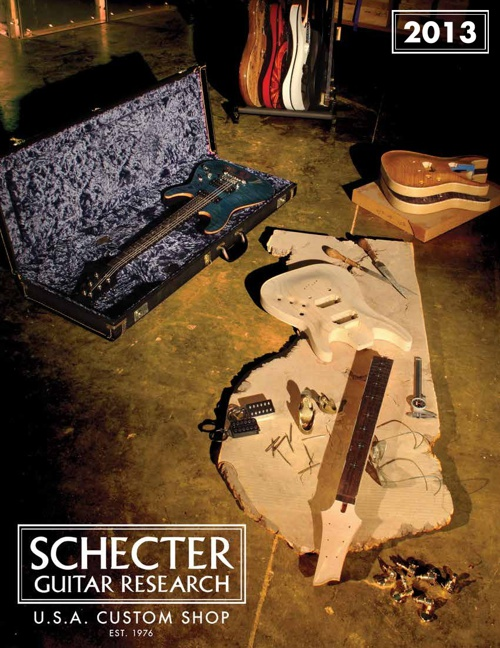2013 SCHECTER USA CUSTOM SHOP CATALOG