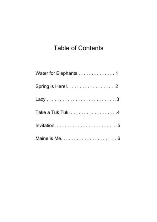 TableofContents--Poetry
