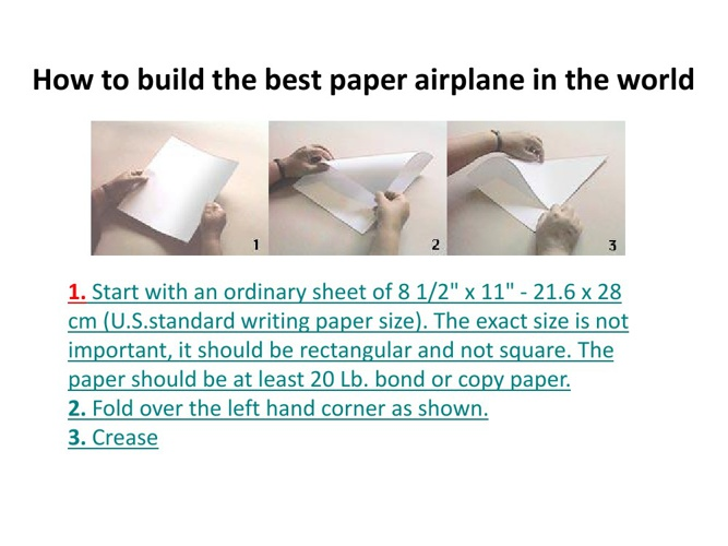 Paper Airplanes: The Art of Paper Folding