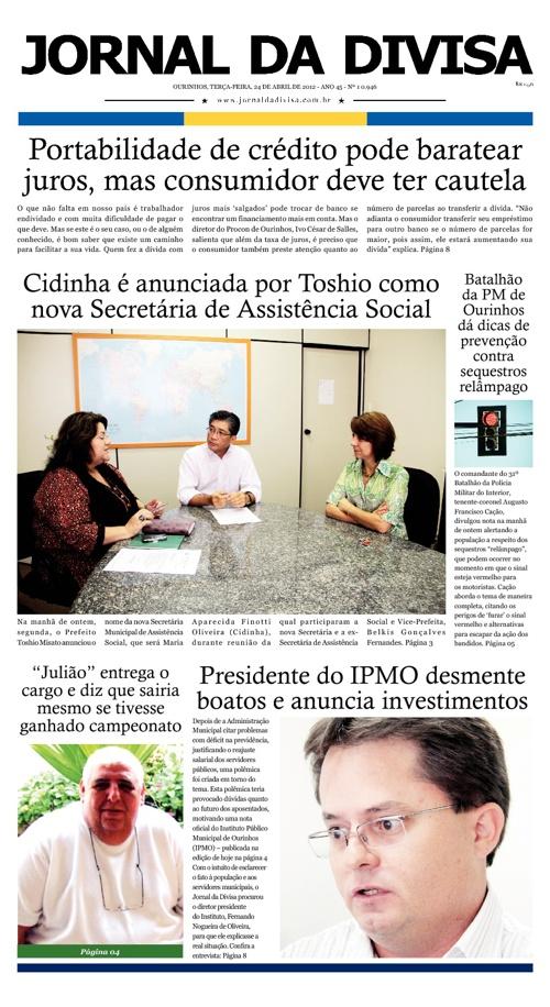 JORNAL DA DIVISA - Edição de 24 de Abril de 2012.